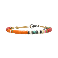 Bracelet Orange Corail 4mm