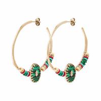 Boucles d'Oreilles Sari Green