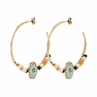 Boucles d'Oreilles Sari Turquoise