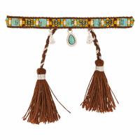 Bracelet Plume Brown / Marron