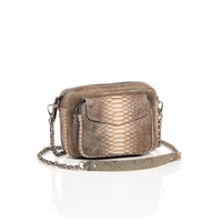 Sac Python Charly Greige Suede