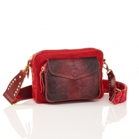 Sac Python Big Charly Rouge Bordeaux Bandoulière