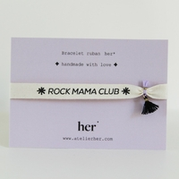 Bracelet Ruban Rock Mama Club