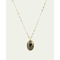 Collier Jade Pyrite