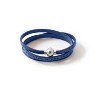 Bracelet triple bleu