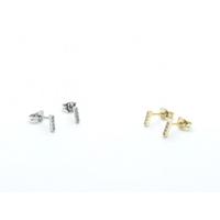 Boucles d'Oreilles Mini Barre Zircon