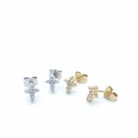 Boucles d'Oreilles Croix Zircon