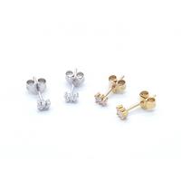 Boucles d'Oreilles Epi Mini Zircon