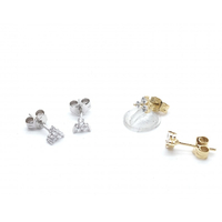 Boucles d'Oreille Triangle Zircon
