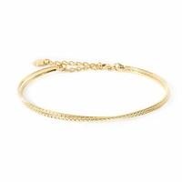Bracelet Jonc Chloé Double Gold