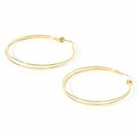 Boucles d'Oreilles Créoles Chloé Double Gold