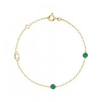 Bracelet Massilia Agathe Verte Or