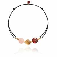 Bracelet 3 Pastilles Cordon 2