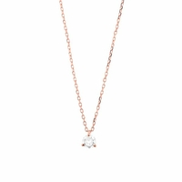 Collier Diamant & Or Rose 18K - 0,25carats