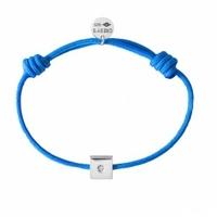 Bracelet Cordon Carré Argent Diamant