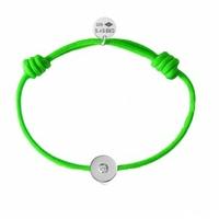 Bracelet Cordon Rond Argent Diamant