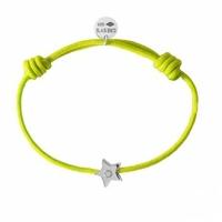 Bracelet Cordon Etoile Argent Diamant