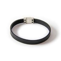 Bracelet plat fin noir