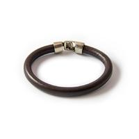 Bracelet cuir rond choco