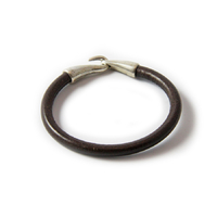 Bracelet Jumbo cuir rond choco