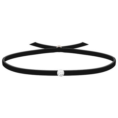 acheter en ligne 7cdd4 03002 Bracelet 3 Petits Points - Diamant - Noir Cuir