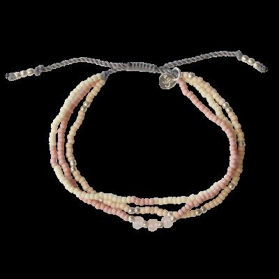 Summer Roze Quartz mixed bracelet