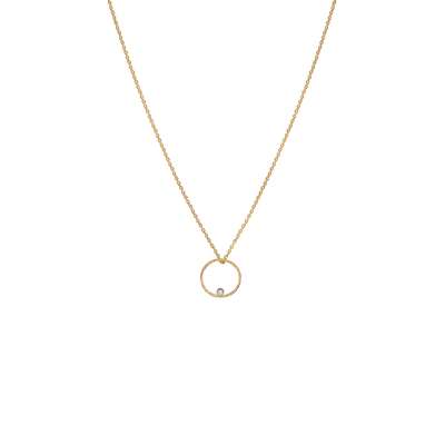 Collier circle dot (opal white)