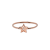Bague Ibiza Star Or Rose Serti Diamant