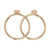 CLJ40001_Idylle Rose Gold Solid and Marble Hexagon Set of Two Rings_top_w