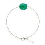 bracelet-or-blanc-et-agate-verte