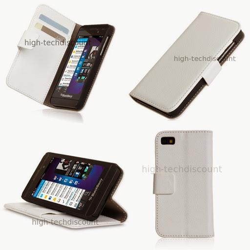 Housse etui coque portefeuille pour blackberry z10 film for Photo ecran blackberry z10