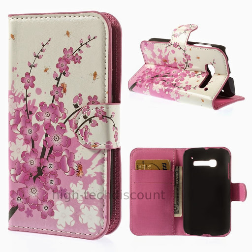 Housse etui coque portefeuille pu cuir pour alcatel one for Housse alcatel one touch