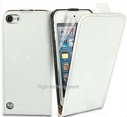 Housse etui coque cuir blanc pour apple ipod touch 5 5g for Housse ipod touch