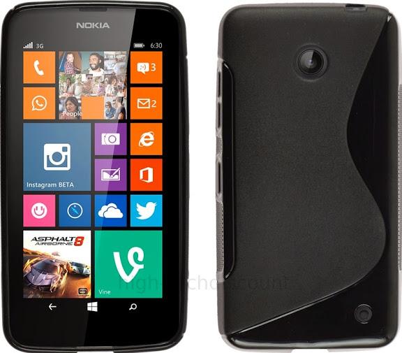 housse etui coque pochette silicone gel pour nokia lumia 630 635 ecran noir