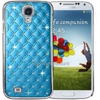 Housse etui coque chrome rigide pour Samsung i9500 i9505 Galaxy s4 IV + film ecran - BLEU CLAIR
