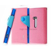 Housse etui coque portefeuille pour Nokia Lumia 920 + film ecran - ROSE CLAIR