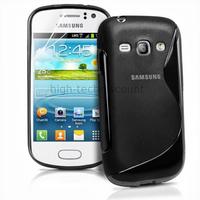 Housse etui coque silicone gel pour Samsung s6810 Galaxy Fame + film ecran - NOIR