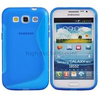 Housse etui coque gel pour Samsung i8550 i8552 Galaxy Win Duos + film ecran - BLEU