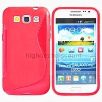 Housse etui coque gel pour Samsung i8550 i8552 Galaxy Win Duos + film ecran - ROSE