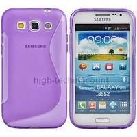 Housse etui coque gel pour Samsung i8550 i8552 Galaxy Win Duos + film ecran - MAUVE