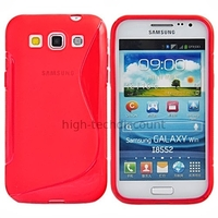 Housse etui coque gel pour Samsung i8550 i8552 Galaxy Win Duos + film ecran - ROUGE
