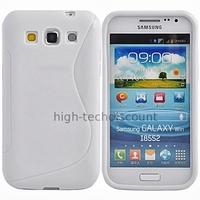 Housse etui coque gel pour Samsung i8550 i8552 Galaxy Win Duos + film ecran - BLANC