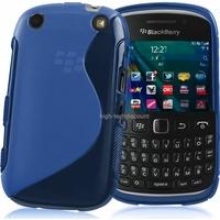 Housse etui coque silicone gel BLEU pour Blackberry 9320 Curve + film ecran