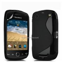 Housse etui coque silicone gel NOIR pour Blackberry 9380 Curve + film ecran