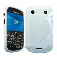 Housse etui coque silicone gel BLANC pour Blackberry 9900 Bold + film ecran