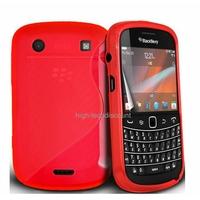 Housse etui coque silicone gel ROSE pour Blackberry 9900 Bold + film ecran
