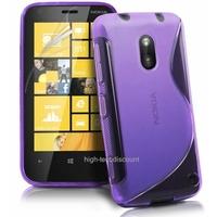 Housse etui coque silicone gel MAUVE pour Nokia Lumia 620 + film ecran