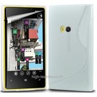 Housse etui coque silicone gel BLANC pour Nokia Lumia 920 + film ecran