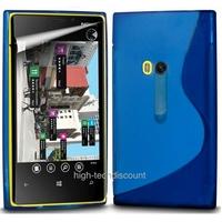 Housse etui coque silicone gel BLEU pour Nokia Lumia 920 + film ecran