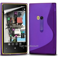 Housse etui coque silicone gel MAUVE pour Nokia Lumia 920 + film ecran